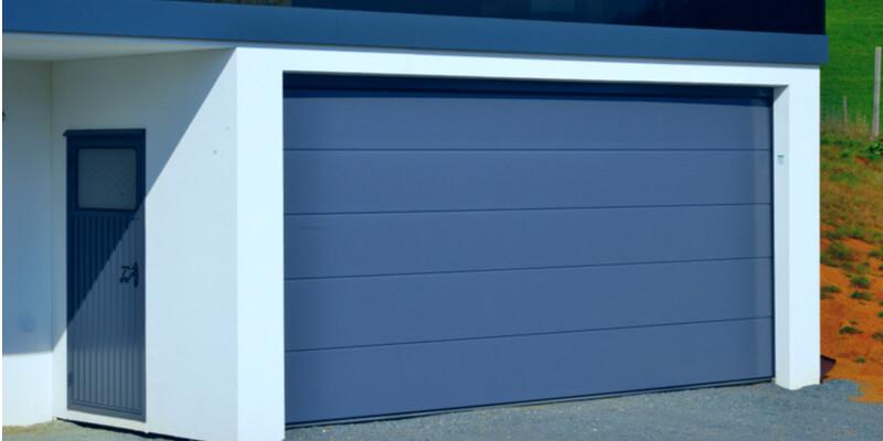 black glass garage door - Ed Garage Door Repair Inc