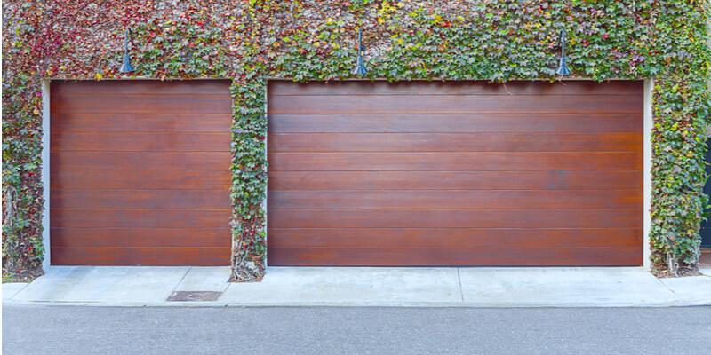modern wood look garage doors - Ed Garage Door Repair Inc