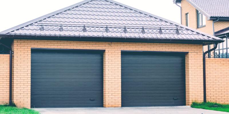 black garage doors - Ed Garage Door Repair Inc