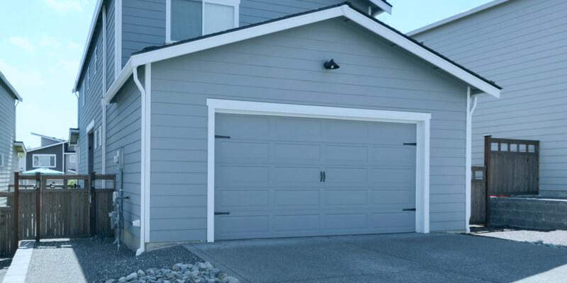 blue garage door - Ed Garage Door Repair Inc
