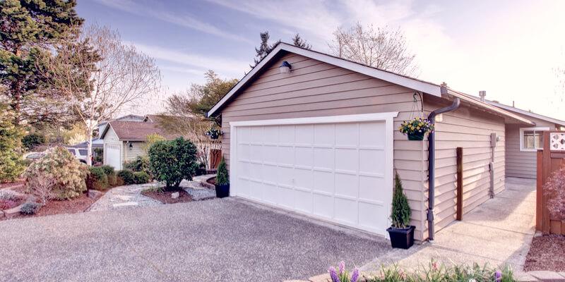 white garage doors - Ed Garage Door Repair Inc
